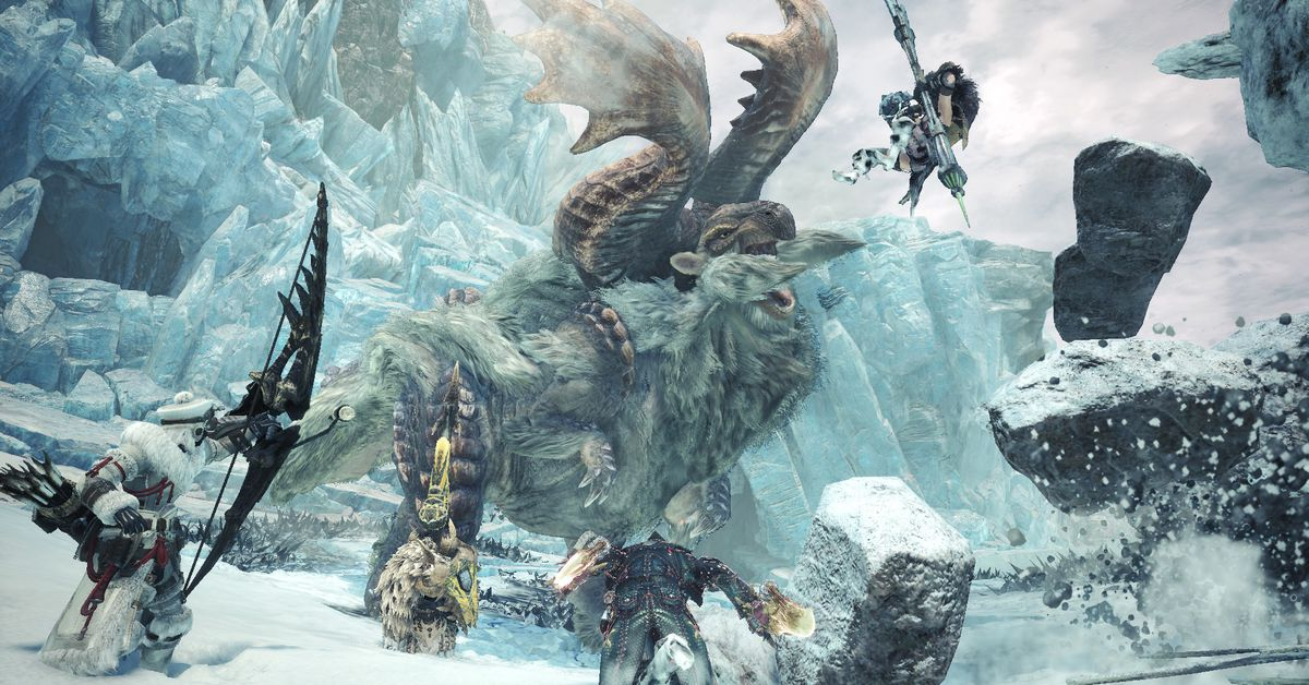 In Monster Hunter's Iceborne expansion, even the frozen terrain is out to get you