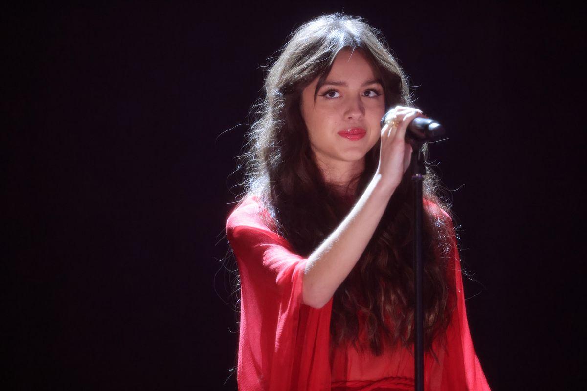 Olivia Rodrigo performs at the BRIT Awards 2021 Show.