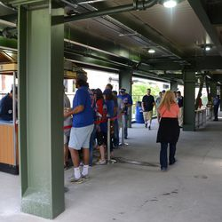5:11 p.m. Beer stand under the right-field porch -
