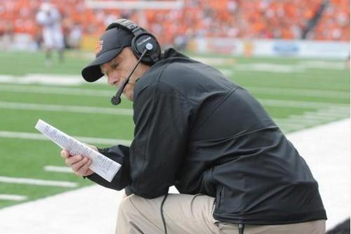 Oregon St. head coach Mike Riley will have to shuffle things with the retirement of DT Blake Harrah.