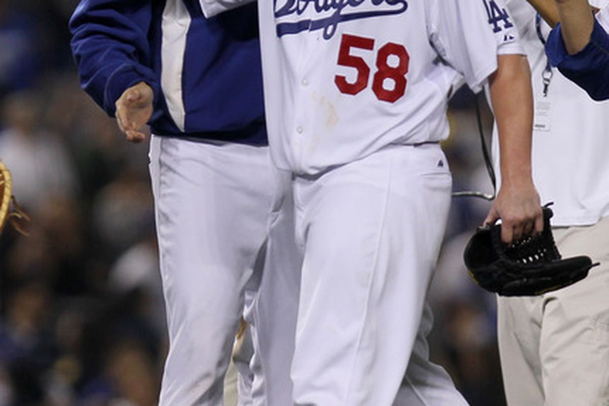 Not even the healing hands of Clayton Kershaw could save Chad Billingsley.