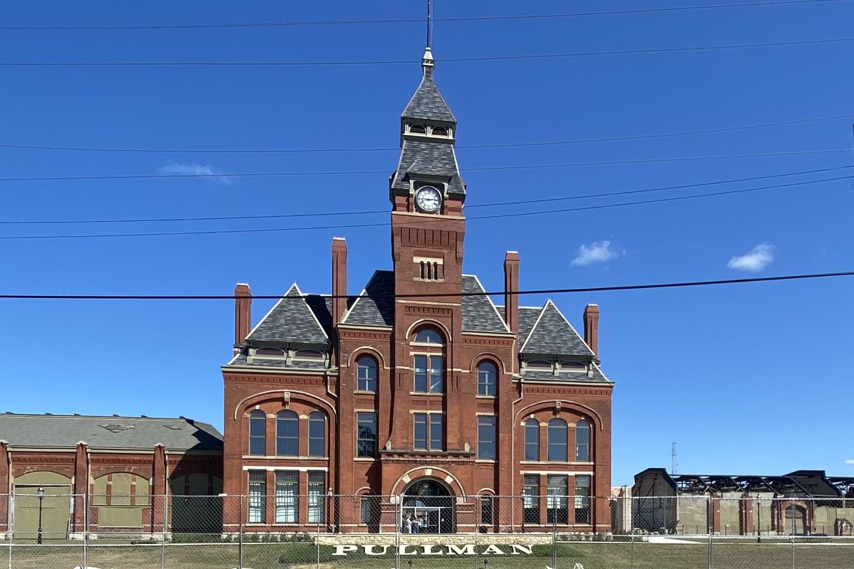 The former Pullman Palace Car Factory at 111th Street & Cottage Grove Avenue, once the site of a 19th century labor struggle, reopened Labor Day weekend as U.S. National Park Service visitors' center.