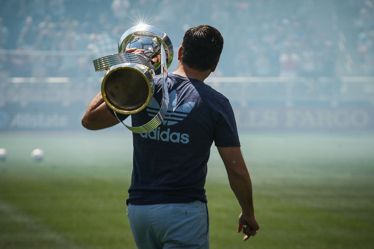 Robb Heineman: Just a midwest boy with his 2013 MLS Cup trophy