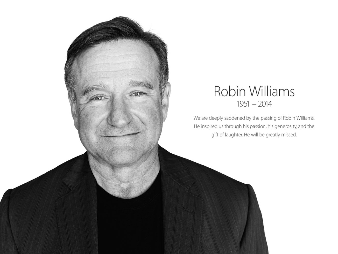 Apple commemorates Robin Williams in homepage tribute - The Verge