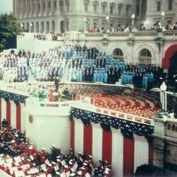 President George Herbert Walker Bush invited the Mormon Tabernacle Choir to perform at his 1989 inauguration.