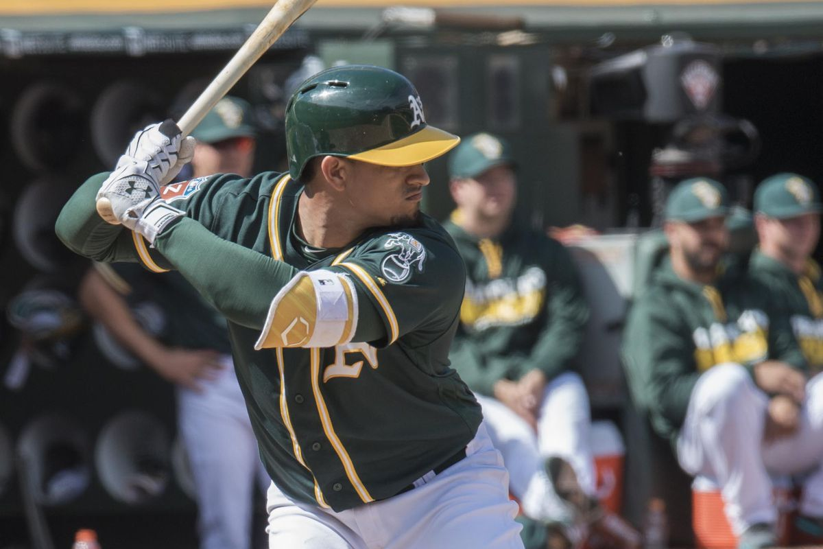 The A's top prospect is finally heating up.