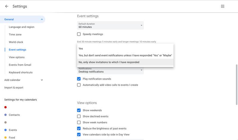 mengatasi spam google kalender