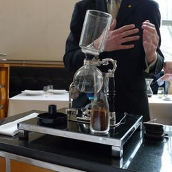 """Siphon coffee at Eleven Madison Park. (<a href=""""http://effingdericious.wordpress.com/2011/03/26/eleven-madison-park-new-york-ny/"""" rel=""""nofollow"""">photo</a>)"""