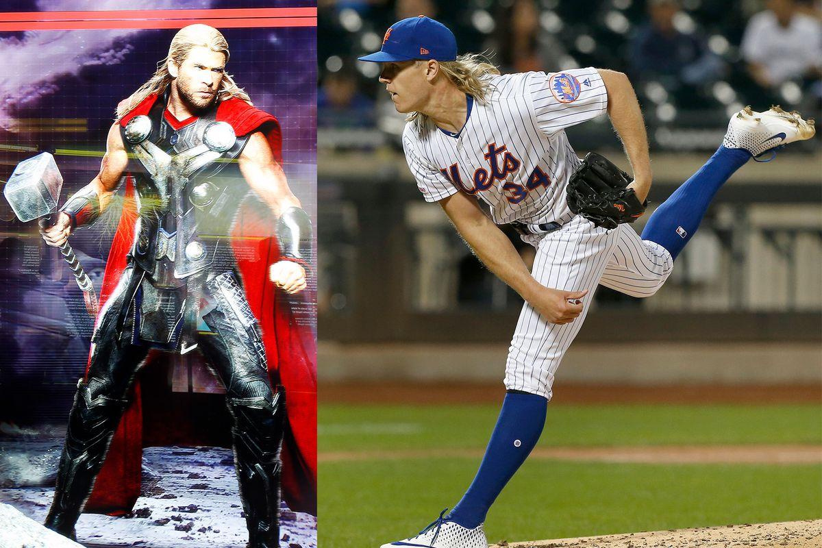 Marvel Thor Chris Hemsworth Noah Syndergaard Mets