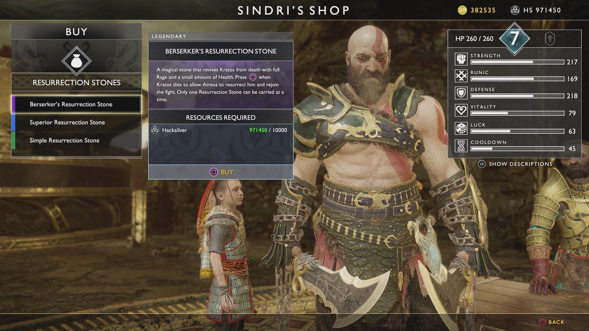 God of War Resurrection Stone Kratos Sindri