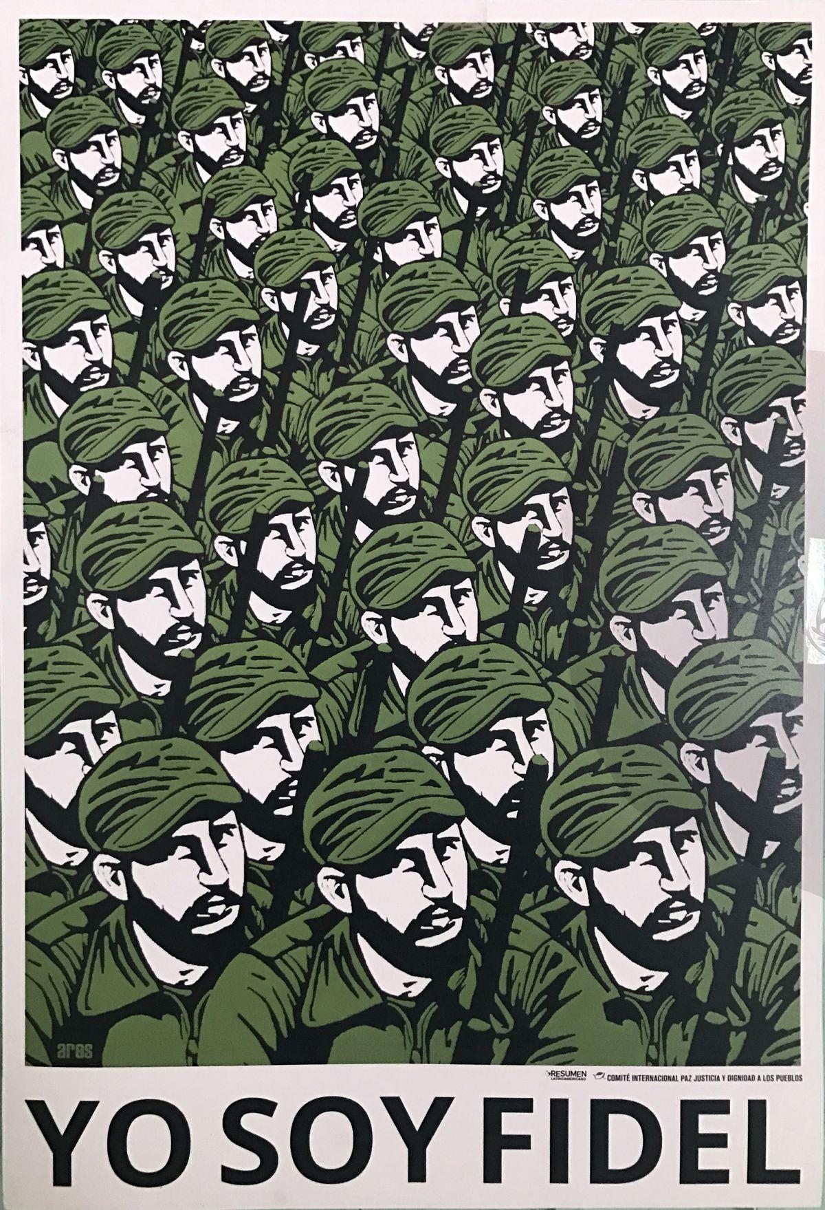 Post Fidel Castro government poster