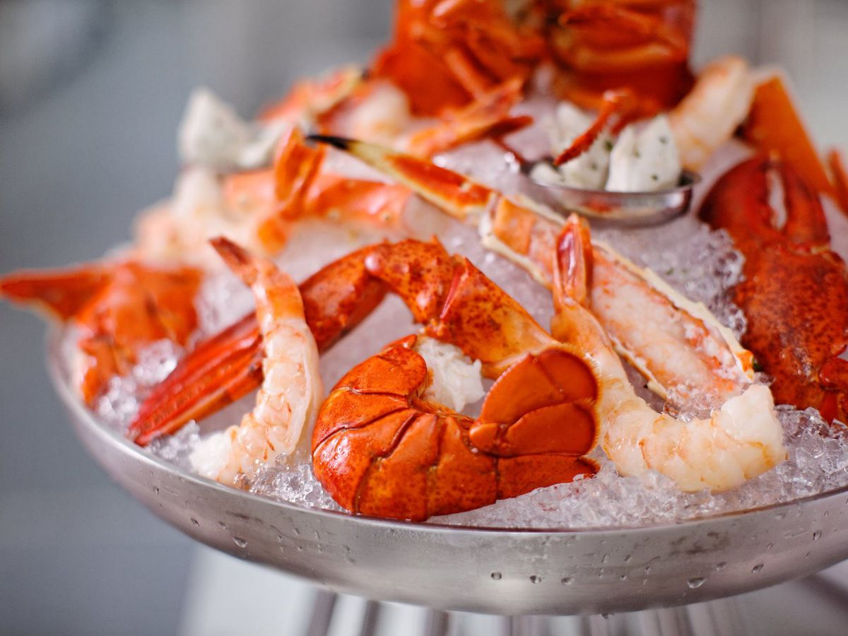 Chilled seafood platter at Ruth's Chris