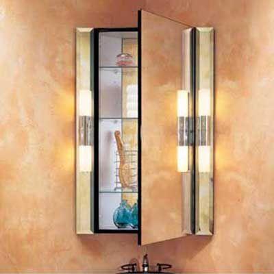 Robern's M Series Corner Cabinet For Half Bath