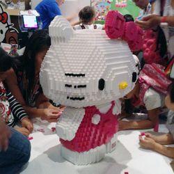 Hello Kitty made from Mega Bloks.