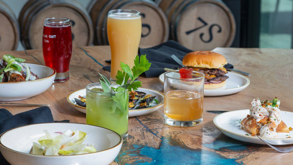 Beer and food from Seven Stills