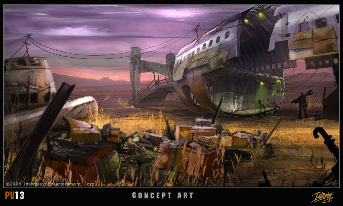 Fallout Project V13 concept art, airplane