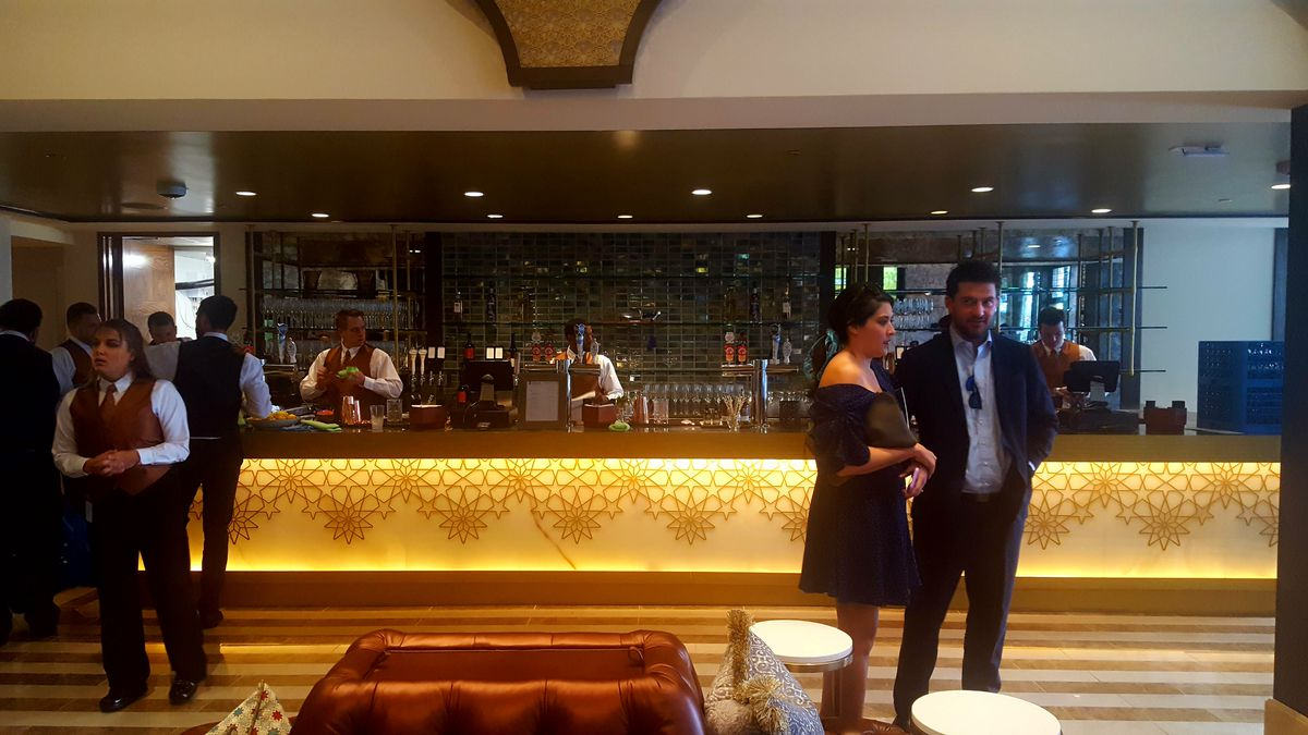 A photo of the new ground floor bar.
