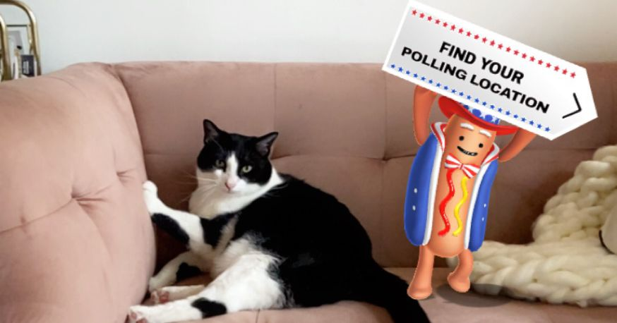 Snapchat's dancing hot dog returns for Election Day