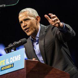 Former President Barack Obama headlines a Get Out The Vote rally Sunday Nov. 4, 2018.. | Ashlee Rezin/Sun-Times