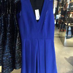 Cobalt v-neck dress, $236 (was $1,585)