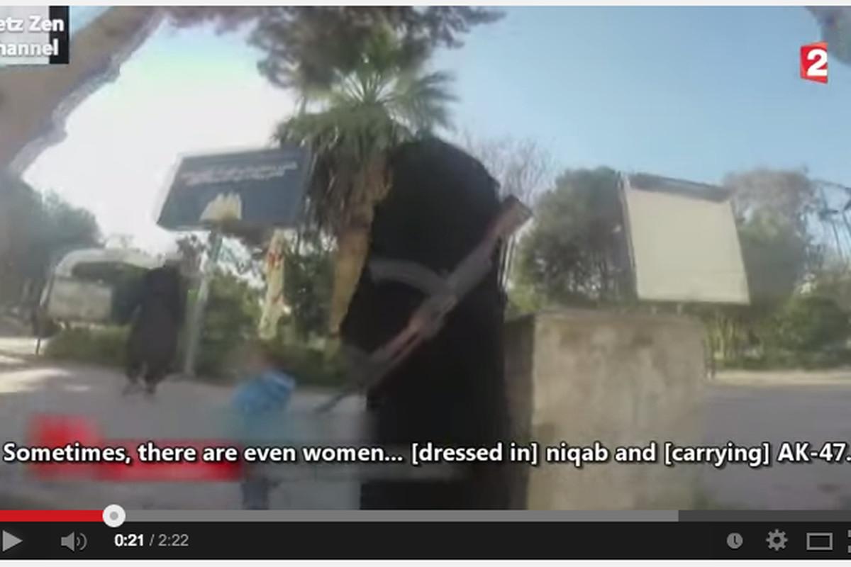 A woman dressed in a niqab secretly films life in Raqqa.
