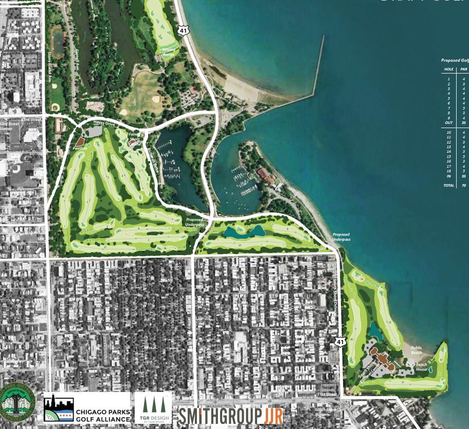 Rendering of the South Side PGA-caliber golf course