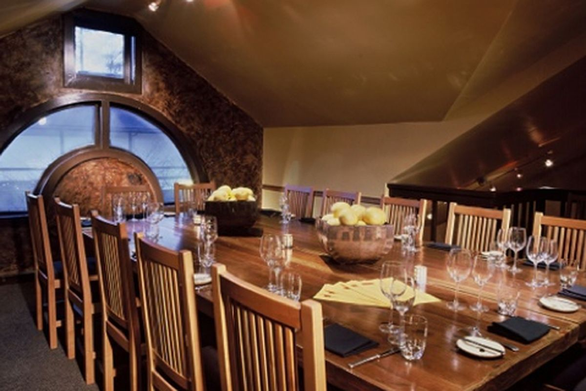A private dining room at Woodfire Grill