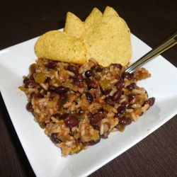 """The recipe for """"Black Bean and Rice Stew"""" from """"Emergency Food Storage in a Nutshell, 3rd edition,"""" makes a hearty, flavorful and thick soup. It's one of many versatile bean recipes throughout the cookbook."""