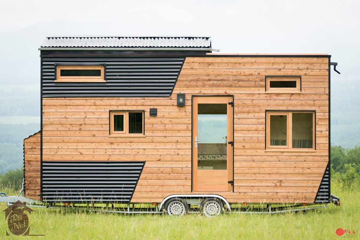 Facade of fir-clad tiny home