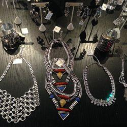 Current-season necklaces and bracelets
