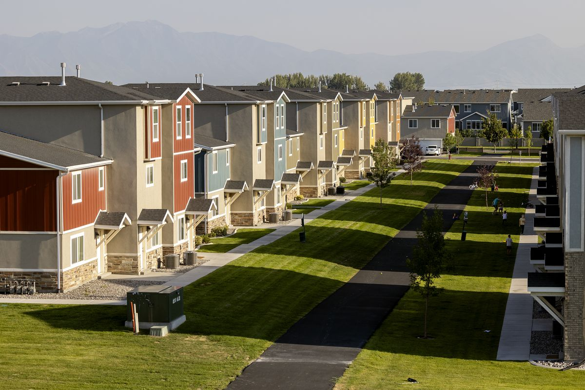 New housing in Vineyard is pictured on Aug. 11, 2021.