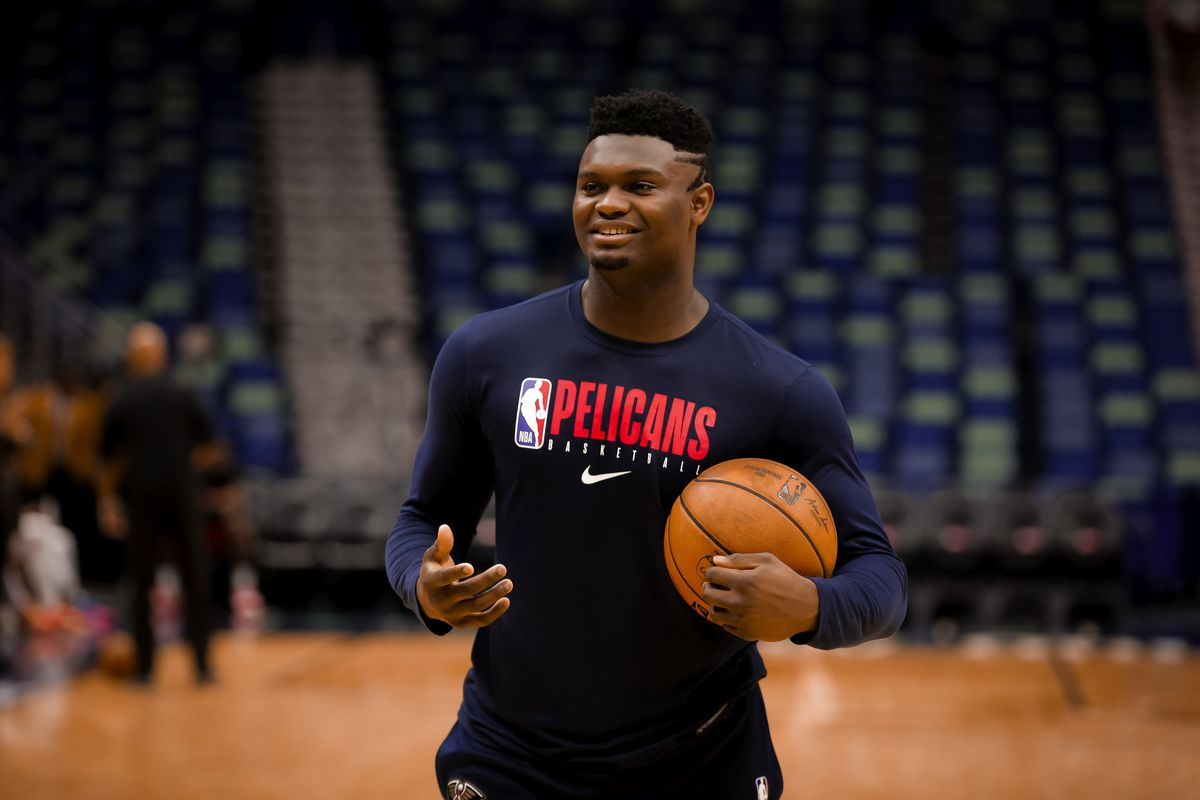 New Orleans Pelicans forward Zion Williamson prior to a game against the Houston Rockets at the Smoothie King Center.