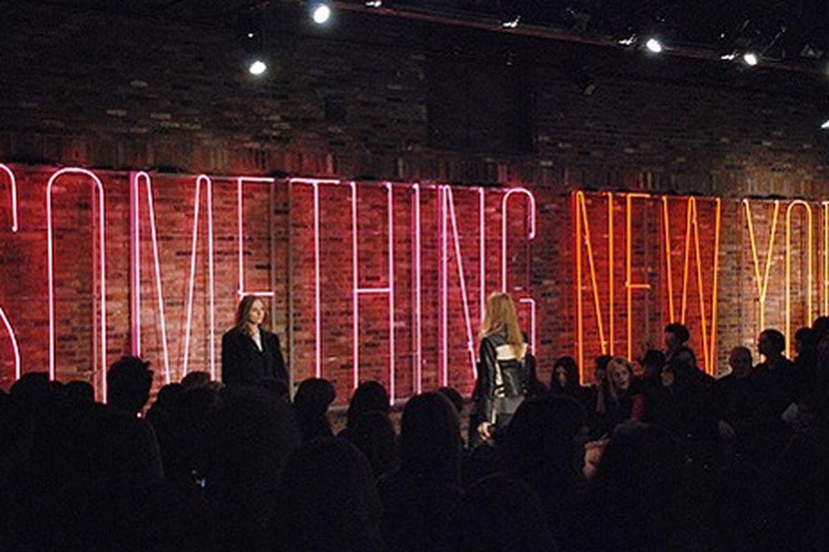 DKNY's ode to New York. Photo by Cynthia Drescher.