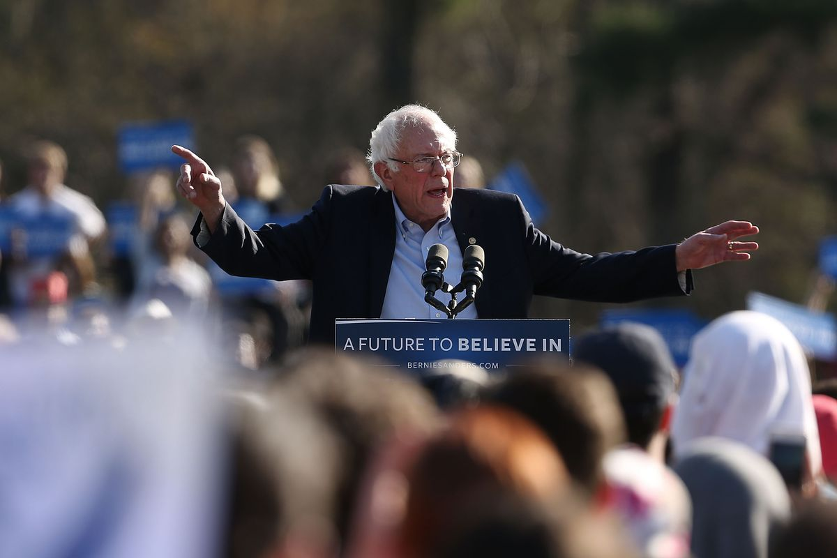 Bernie Sanders Holds Campaign Rally In Brooklyn's Prospect Park