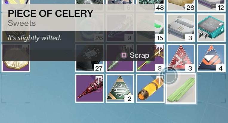 Destiny - piece of celery