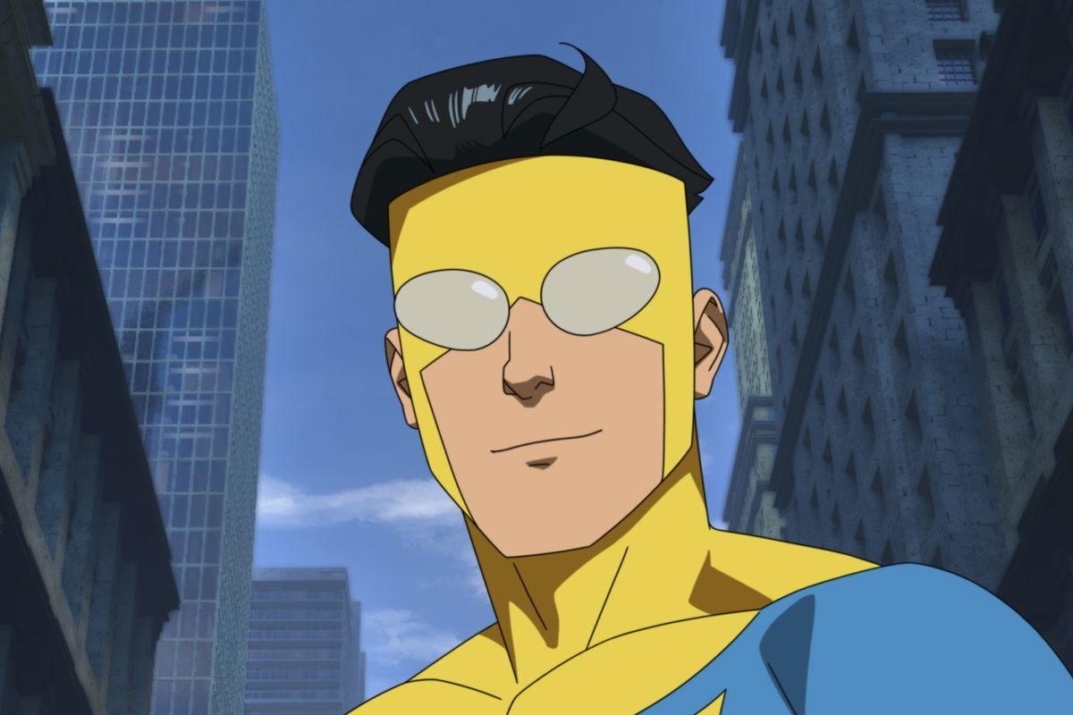 Seventeen-year-old Mark Grayson as the superhero Invincible