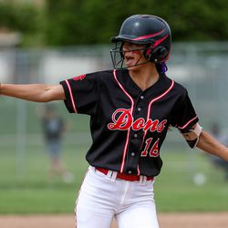 Springville and Spanish Fork play during the 5A softball quarterfinals at Spanish Fork Sports Park in Spanish Fork on Tuesday, May 25, 2021.