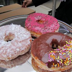 """Kenny Scharf-inspired doughnuts from the Doughnut Plant by <a href=""""http://www.flickr.com/photos/scottlynchnyc/8620183001/in/pool-eater"""">Scoboco</a>"""