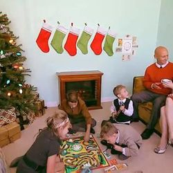 The Slade family Christmas card 2013 featured some anti-gravity dust.