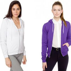 The American Apparel hoodie is no-nonsense style at a no-frills price. $41 in a rainbow of colors at most American Apparel stores.