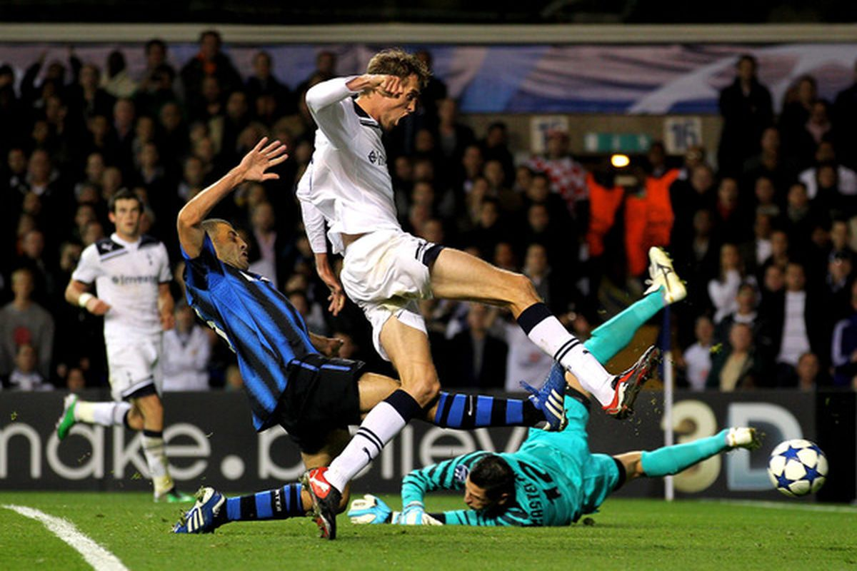 See this? This is a picture of us playing a game in the UEFA Champions League. Spurs! In the REAL Champions League!