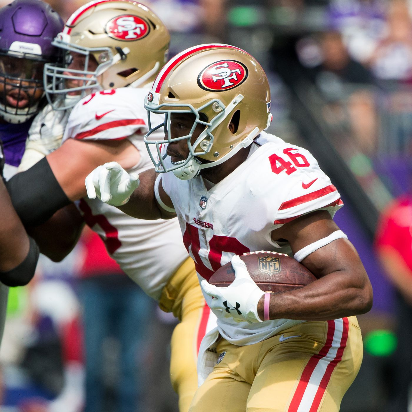 ef56f000300 Vikings 2018  Alfred Morris was reaching for more when he fumbled - Niners  Nation