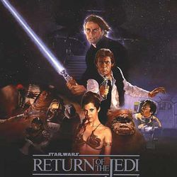 """Movie poster from """"Star Wars: Episode VI — Return of the Jedi."""""""