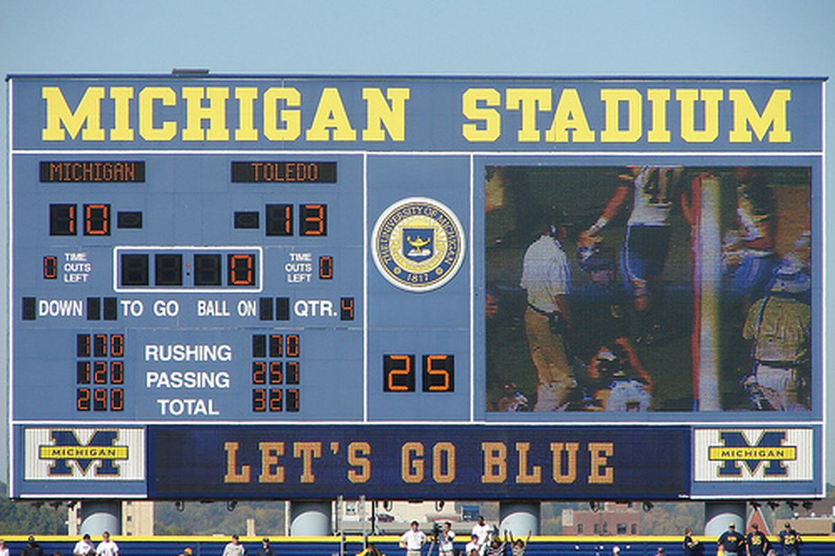 """Remember this 2008 upset? It probably set the Wolverines onto a path of dismay that they've yet to recover from. (Photo via <a href=""""http://www.flickr.com/photos/31955013@N02/2988465769/"""" target=""""new"""">Flickr/wpierce76</a>)"""