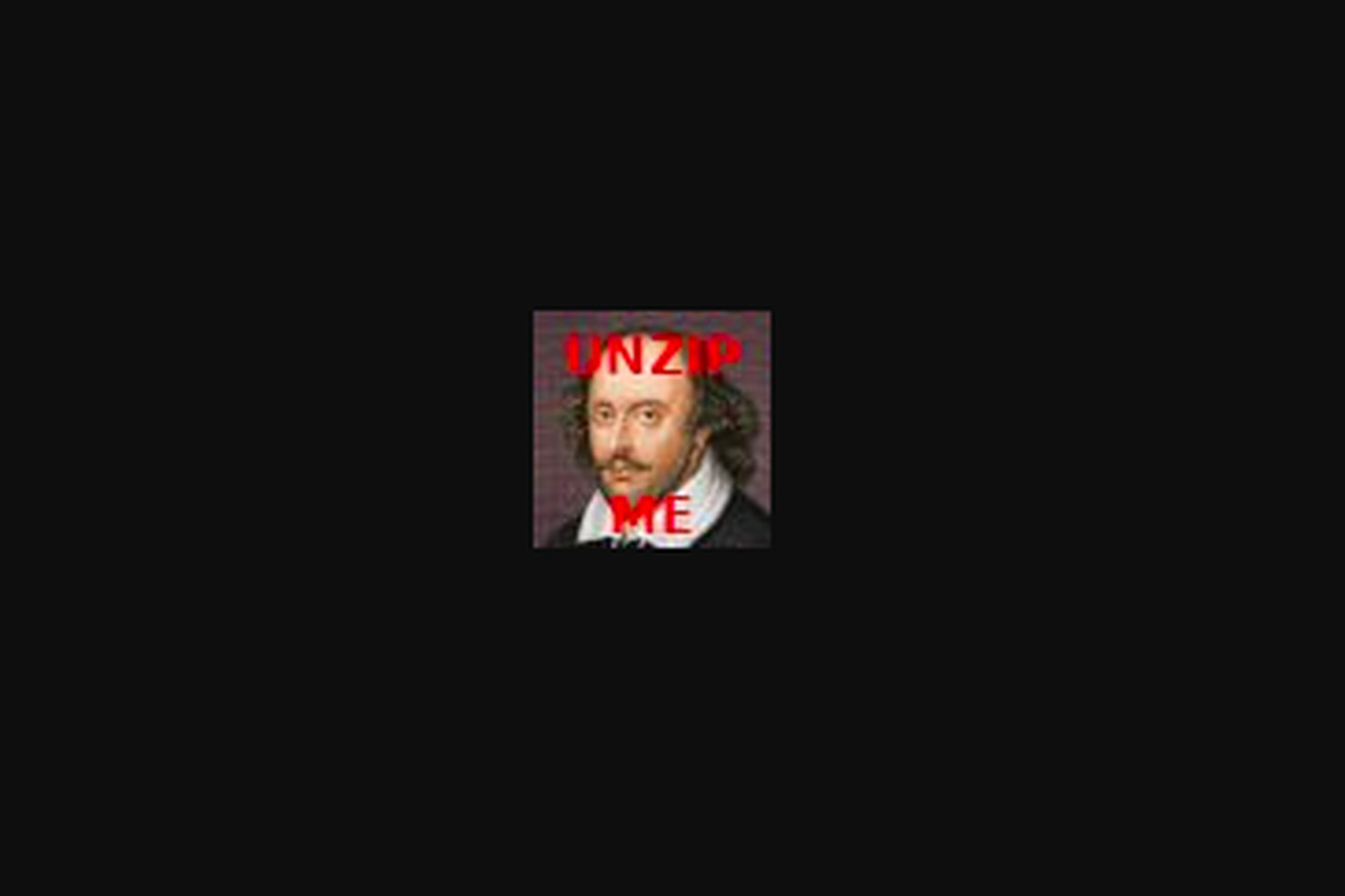 you can unzip this tiny image on twitter to reveal the complete works of shakespeare