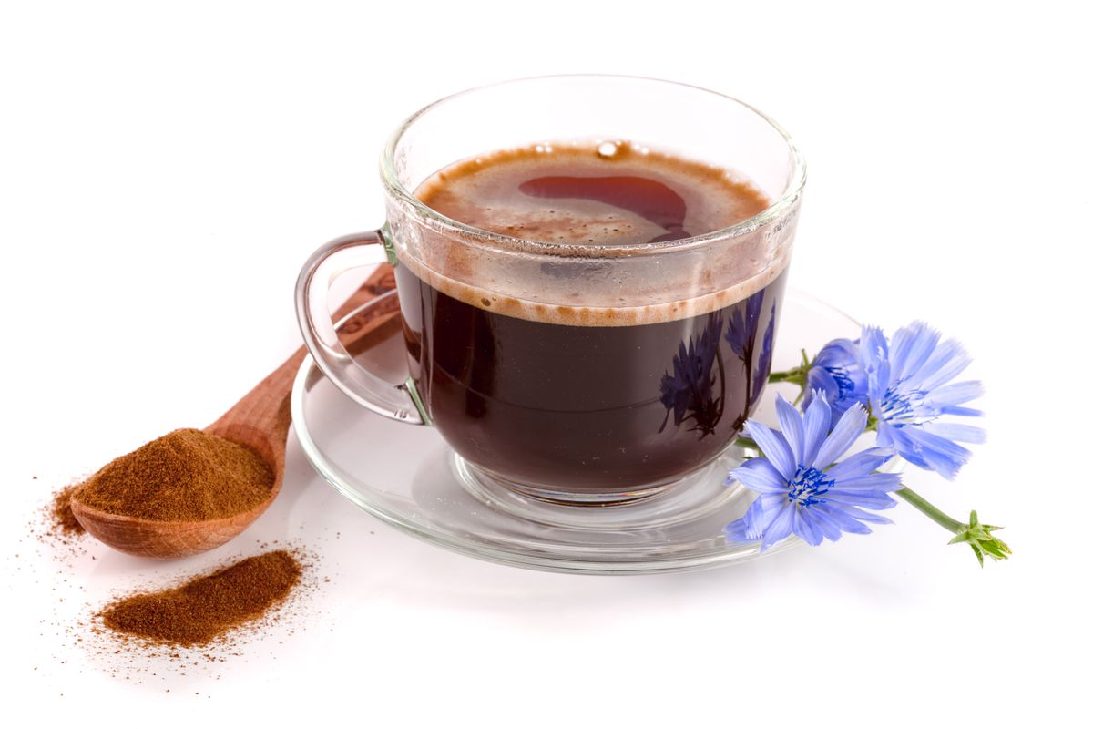 Chickory root, which some tout as a coffee-making alternative, offers plenty of fiber and antioxidants for improved gut health.