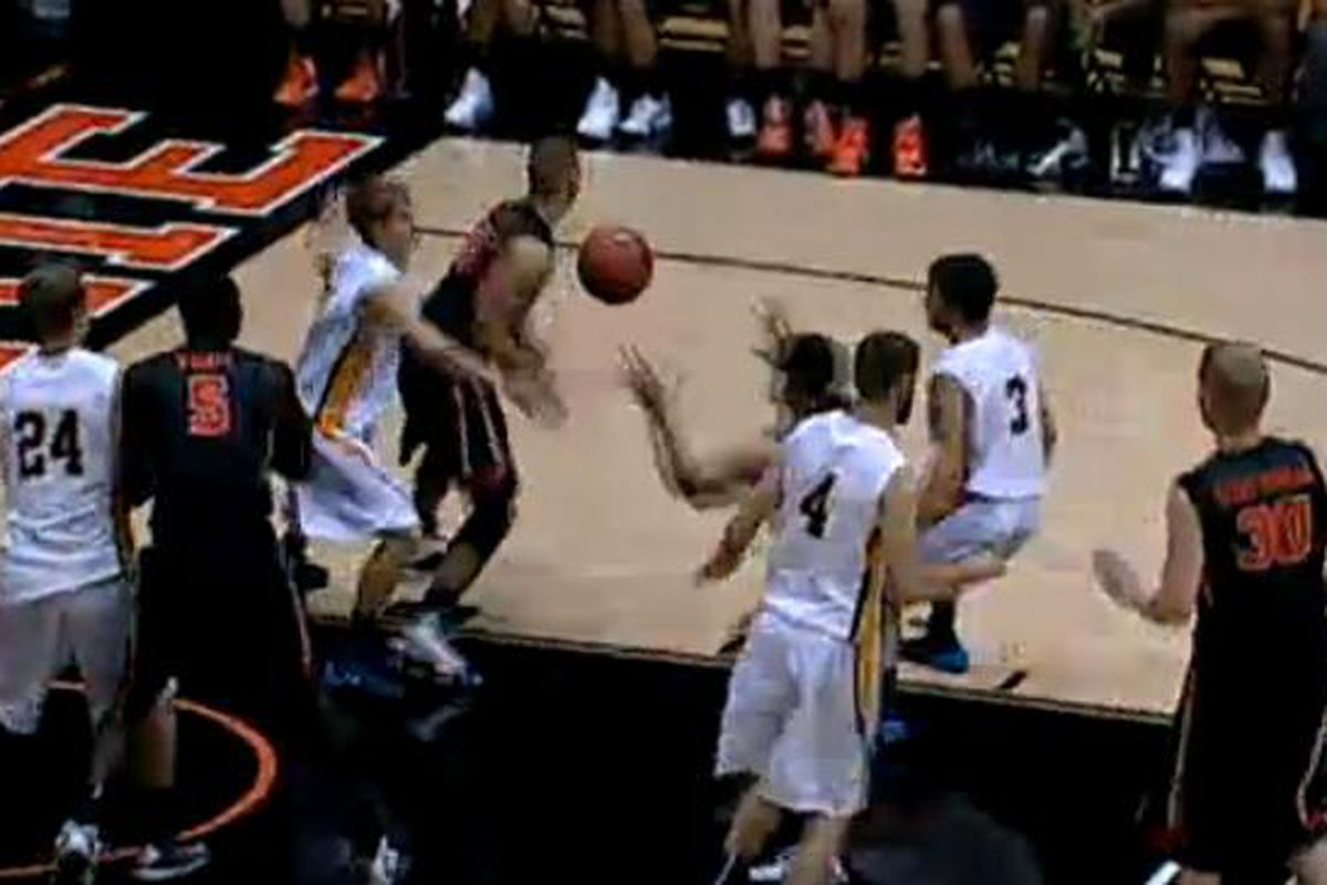 Oregon St. donned their new black uniforms for tonight's easy win over Corban.