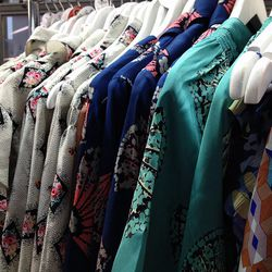 A rack of Tucker's prints. Prices ran from $50 to $150.