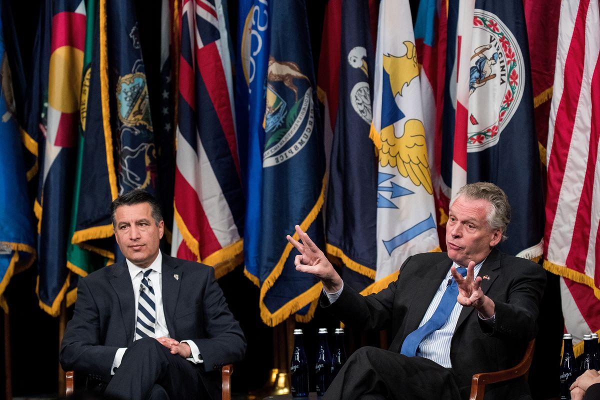 Virginia Gov. McAuliffe And Nevada Gov. Sandoval National Governors Association Leadership Event