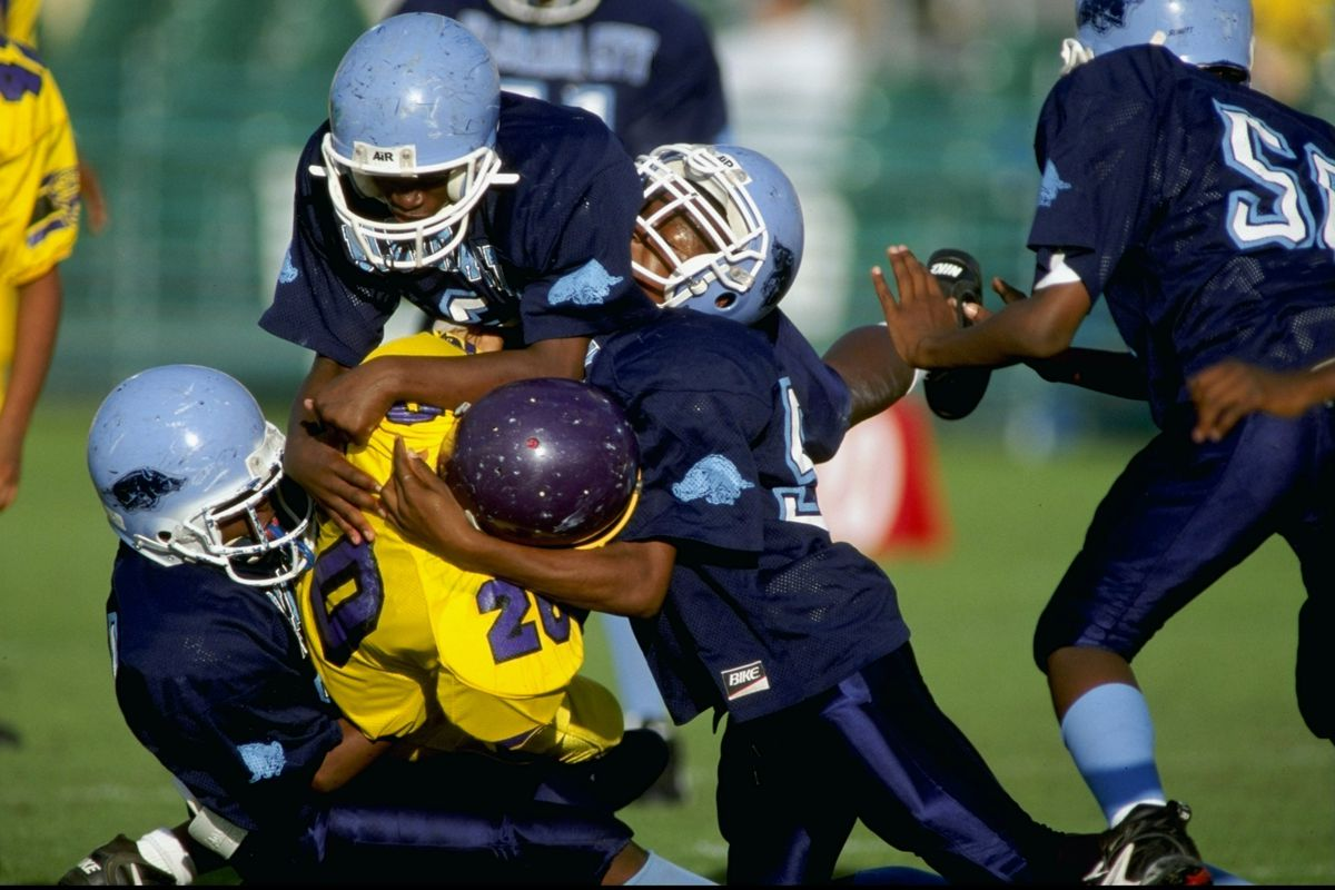 A youth football game in Florida.